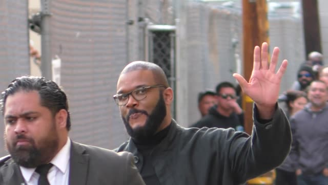 tyler perry at jimmy kimmel live at el capitan theater in hollywood on march 19 2018 at celebrity sightings in los angeles - jimmy perry stock videos and b-roll footage