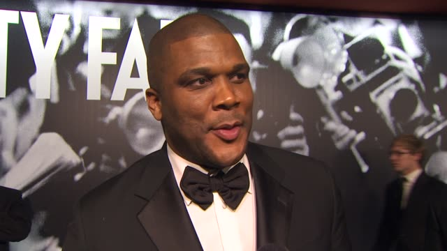 tyler perry at the 2010 vanity fair oscar party hosted by graydon carter at west hollywood ca - graydon carter stock videos and b-roll footage