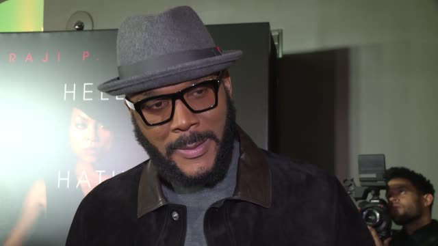 tyler perry on choosing taraji p henson for the lead role and what was different about this movie at lionsgate presents the world premiere of tyler... - interview raw footage stock videos & royalty-free footage