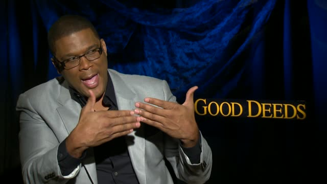 tyler perry on if he prefers acting or directing at the 'good deeds' junket in hollywood ca 02/13/12 - directing stock videos and b-roll footage