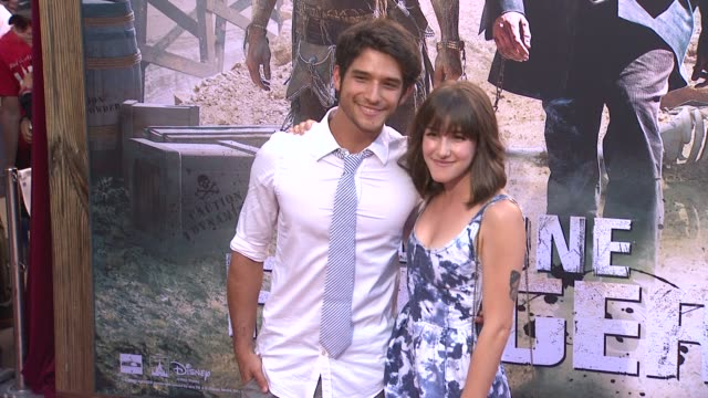 tyler posey at the lone ranger los angeles premiere tyler posey at the lone ranger los angeles premi at disney california adventure park on june 22... - the lone ranger 2013 film stock videos and b-roll footage