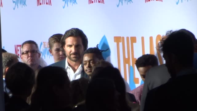 tyler posey wolfgang novogratz kj apa ed quinn halston sage jacob lattimore outside the premiere of netflix's the last summer at tcl chinese theatre... - halston stock videos & royalty-free footage