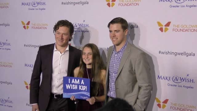 Tyler Toffoli Tanner Pearson at the 4th Annual Wishing Well Winter Gala Presented By MakeAWish Greater Los Angeles at Hollywood Palladium on December...