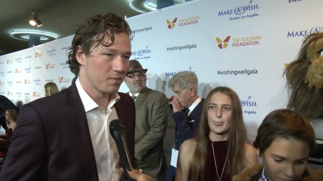 interview tyler toffoti on the event at 4th annual wishing well winter gala presented by makeawish greater los angeles in los angeles ca - wishing well stock videos & royalty-free footage