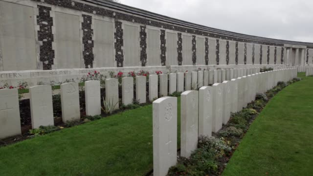 MS Tyne Cot Cemetery is the largest Commonwealth cemetery in the world with 11956 Commonwealth servicemen of the First World War buried or...