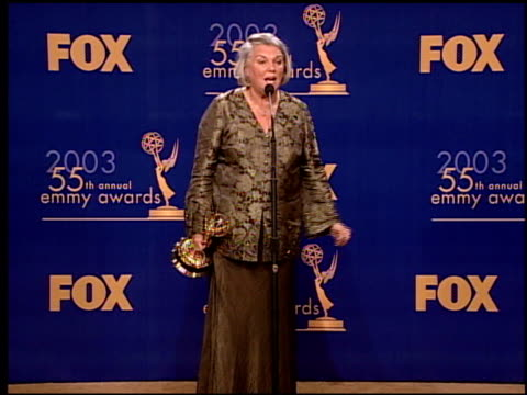 tyne daly at the 2003 emmy awards press room at the shrine auditorium in los angeles california on september 21 2003 - tyne daly stock videos and b-roll footage