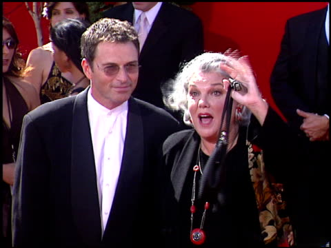 tyne daly at the 2004 emmy awards arrival at the shrine auditorium in los angeles california on september 19 2004 - tyne daly stock videos and b-roll footage