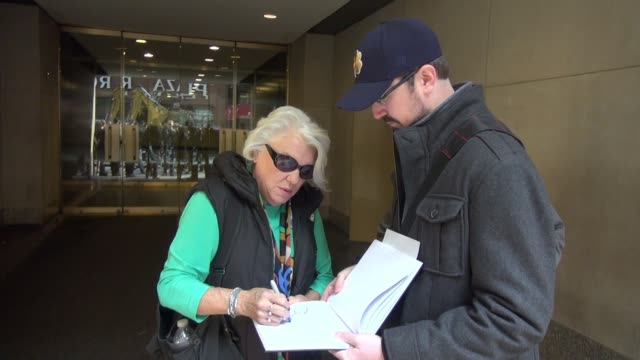 tyne daly leaving the 'today' show signs and poses for photos with fans in new york city in celebrity sightings in new york - tyne daly stock videos and b-roll footage