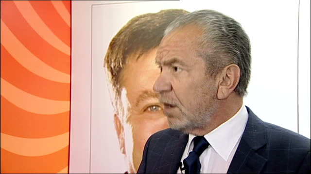 gateshead int sir alan sugar press conference sot have been doing road shows for the last 10 to 15 years - alan sugar stock videos & royalty-free footage