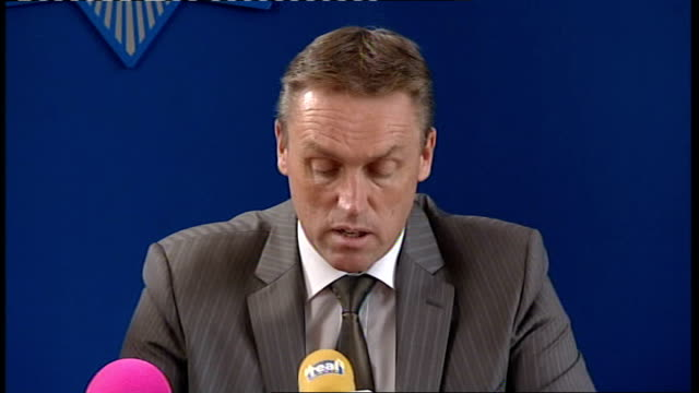 police press conference detective chief superintendent neil adamson press conference sot you will be aware that late last night two men were charged... - moat stock videos & royalty-free footage