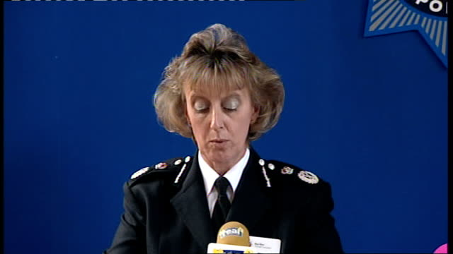 police press conference ENGLAND Tyne and Wear Newcastle Ponteland INT Temporary Chief Constable Sue Sim press conference SOT ladies and gentlemen I...