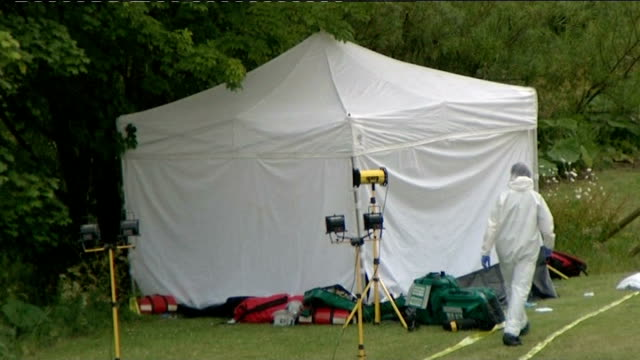 Raoul Moat shoots himself following police standoff / police handling of manhunt under investigation Police forensics tent at site where Moat shot...