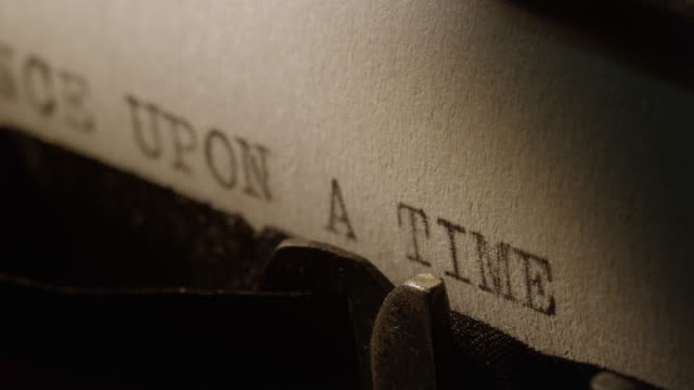 type bars of old typewriter printing once upon a time - fantasy stock videos & royalty-free footage