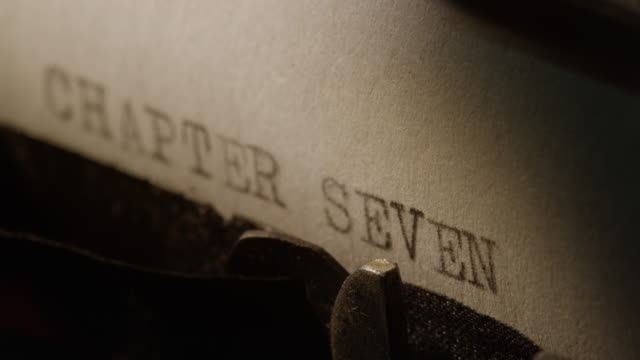 ld type bars of old typewriter printing out chapter seven - literature stock videos and b-roll footage