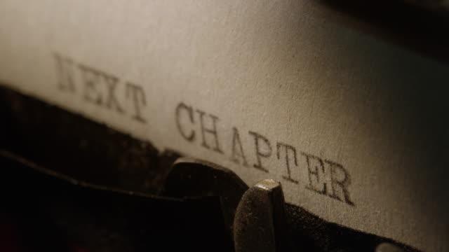 LD タイプバーの古いタイプライター印刷次の章