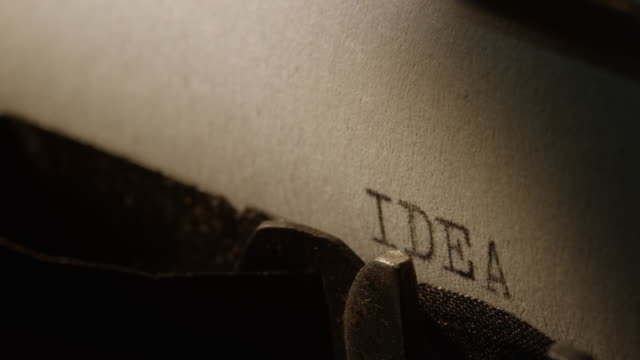 ld type bars of old typewriter printing out word idea - ideas stock videos & royalty-free footage