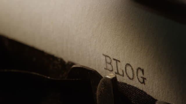LD Type bars of old typewriter printing the word BLOG