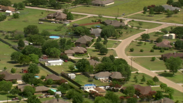 WS ZI AERIAL Type of houses at dallas suburbs / Texas, United States