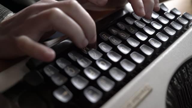 type writer office hands - typewriter keyboard stock videos & royalty-free footage