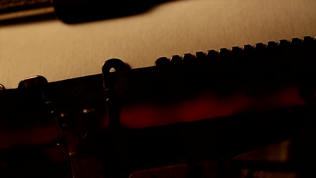 typed using an old typewriter - author stock videos & royalty-free footage