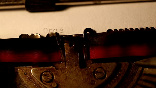 typed using an old typewriter - macchina da scrivere video stock e b–roll