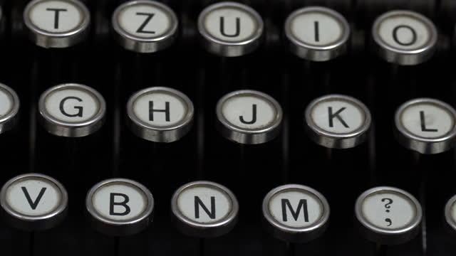 typewriter 4k - file clerk stock videos & royalty-free footage