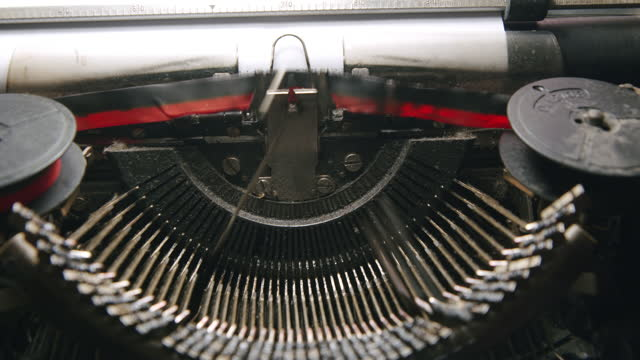 typewriter close-up letters - author stock videos & royalty-free footage