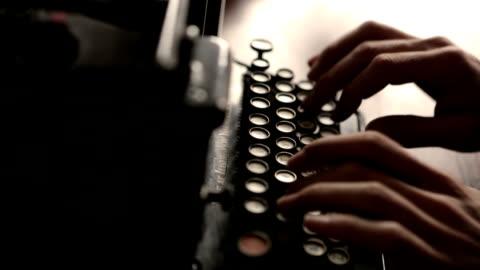 vídeos y material grabado en eventos de stock de máquina de escribir cm colorado - anticuado