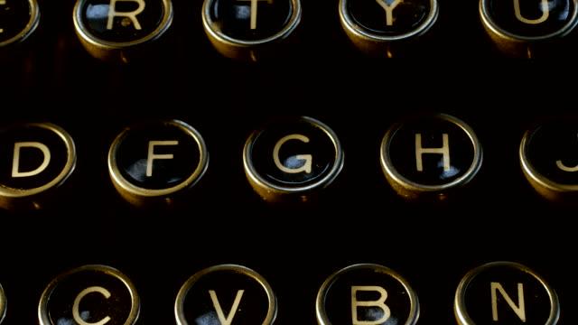 typewriter keyboard - typewriter keyboard stock videos & royalty-free footage