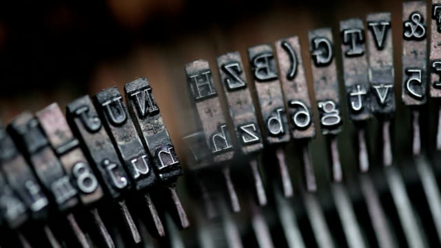 typewriter keys macro shot - article stock videos and b-roll footage