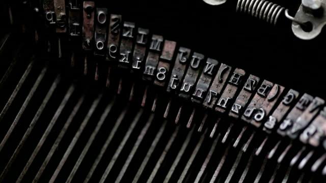 typewriter keys macro - press release stock videos and b-roll footage