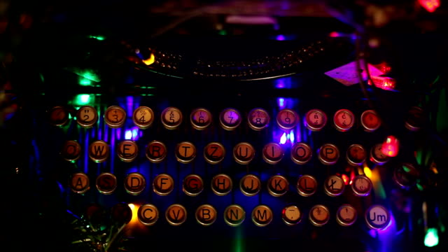 typewriter, old, christmas lights - telegram stock videos and b-roll footage