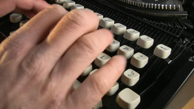 typewriter - typewriter keyboard stock videos & royalty-free footage