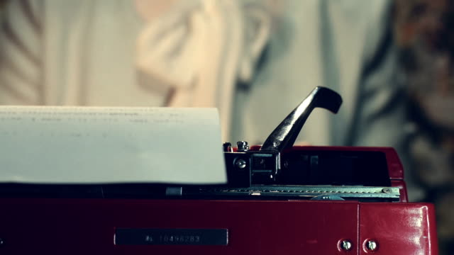 typewriter - typing stock videos & royalty-free footage