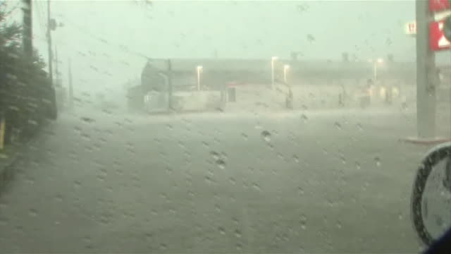 typhoon goni torrential downpour - typhoon stock videos & royalty-free footage