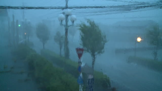 Typhoon Goni torrential downpour