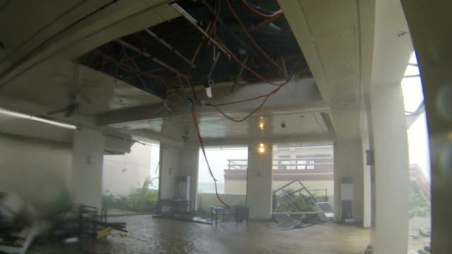 Typhoon Haiyan Hurricane Winds Damage Rooftop