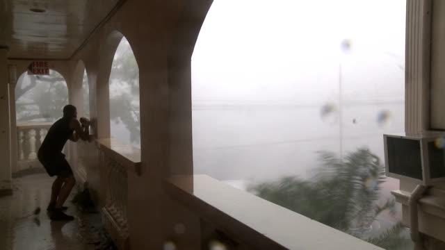 Typhoon Haiyan Hurricane Winds Hit Tacloban City