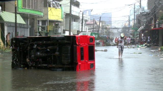 Typhoon Haiyan Storm Surge Destruction In Tacloban City