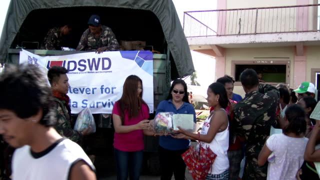 Typhoon Haiyan Survivors Receiving Aid In Tacloban
