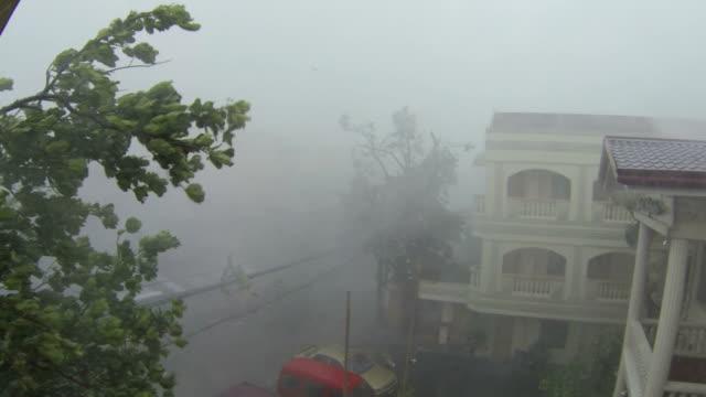 typhoon haiyan violent hurricane eyewall wind and rain - rubble stock videos & royalty-free footage