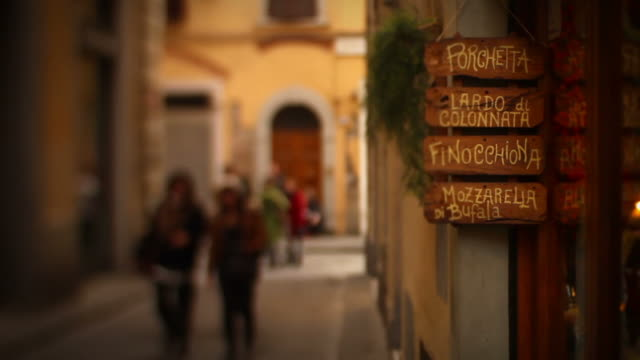 typical alley in florence video hd - tuscany stock videos and b-roll footage