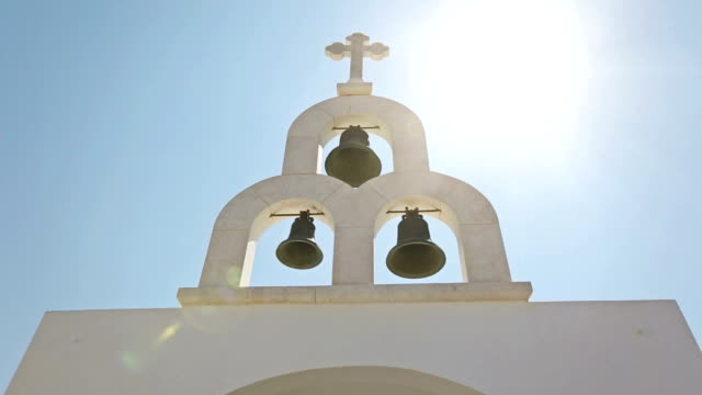 typical church in greece small village - mykonos stock videos & royalty-free footage