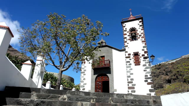 typical church in la palma - kirche stock videos and b-roll footage