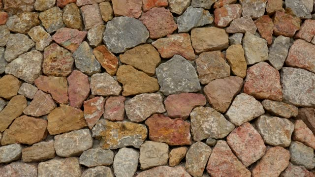 typical dry stone wall, majorca, balearic islands, spain, mediterranean, europe - stone wall stock videos and b-roll footage