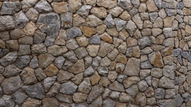 typical dry stone wall, majorca, balearic islands, spain - stone wall stock videos & royalty-free footage