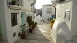 Typical moorish street in a andalusian village