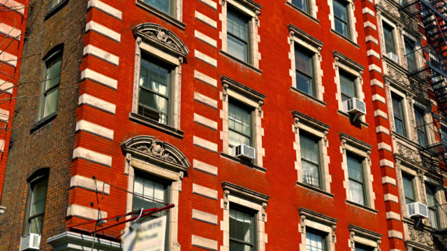 typical new york residential building - flat stock videos & royalty-free footage
