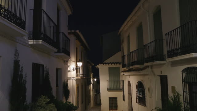 Typical street in Salobreña, in south of Spain