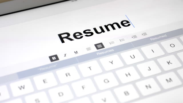 Resumes Videos and B-Roll Footage | Getty Images